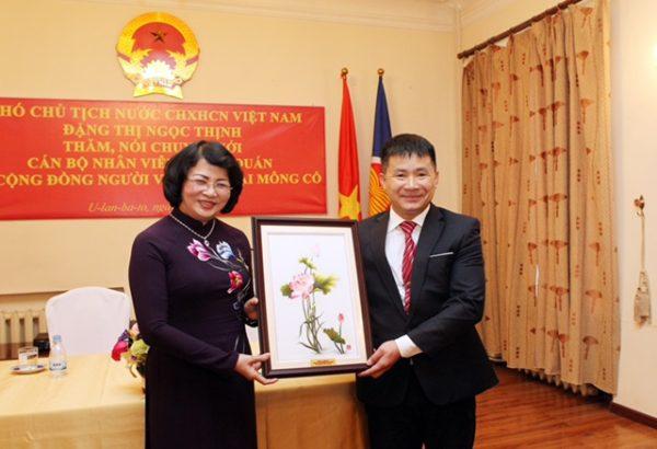 Phó Chủ tịch nước Đặng Thị Ngọc Thịnh thăm Mông Cổ