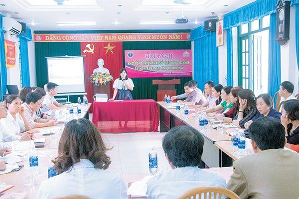 TGĐ Vimos chia sẻ lợi ích của Sổ TDSKBMTE tại  Hội nghị khởi động của tỉnh Thanh Hóa tháng 3 năm 2019