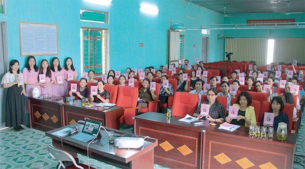 Vimos tham gia tập huấn Sổ TDSKBMTE cho  TTYT huyện Thọ Xuân - Thanh Hóa tháng 3 năm 2019