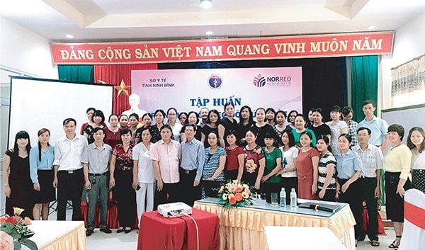 BLĐ Vimos tham gia tập huấn CBYT tại Ninh Bình năm 2017